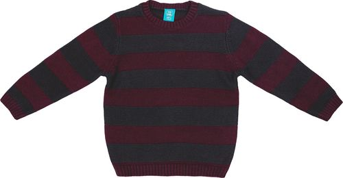 Pepco PEPCO Sweter chłopięcy w paski 128 szary