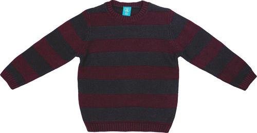 Pepco PEPCO Sweter chłopięcy w paski 134 szary