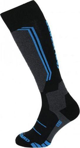 BLIZZARD Skarpety Blizzard Allround Wool Ski Socks Junior Black Anthracite Blue 2020