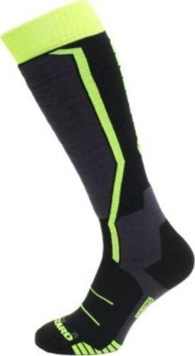 BLIZZARD Skarpety Blizzard Allround Ski Socks Junior Black Anthracite Signal Yellow 2020