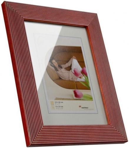 Ramka Walther Grado, 13x18, drewniana, czerwona (HI318R)