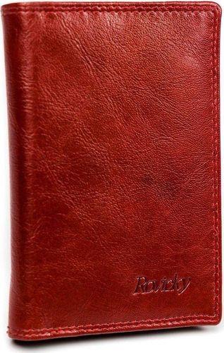 Rovicky Rewelacyjne skórzane etui na karty RFID czerwone (N1912-RVTK)
