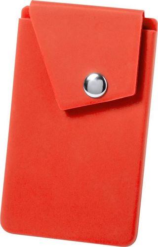 Kemer Etui na karty kredytowe KEMER, stojak na telefon Czerwony uniwersalny