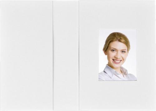 Daiber Etui portretowe, biały matowy, 31x42 mm, 100 sztuk  (1011)