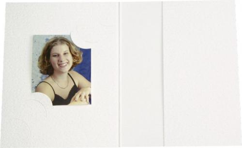 Daiber Etui na zdjecia paszportowe, 3 formaty, bialy, 100 sztuk (12100)