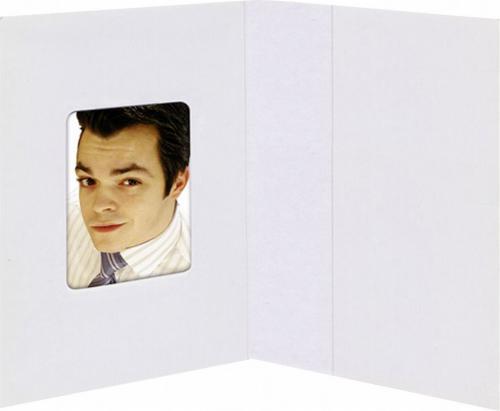Daiber Etui paszportowe biale matowe 38x58 mm, 100 sztuk  (1031)