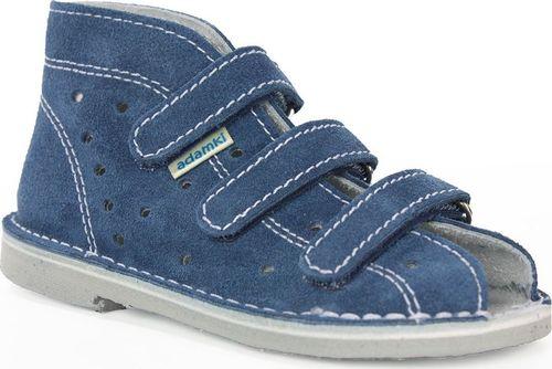 Adamki Obuwie chłopięce Adamki 012 profilaktyczne jeans 23