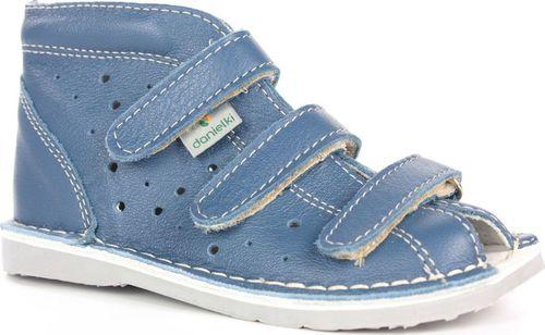 Danielki Sandały dziecięce T105L profilaktyczne jeans lico r. 22