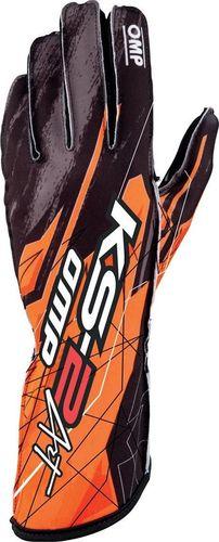 OMP Racing Rękawice kartingowe OMP KS-2 ART pomarańczowe XXXS