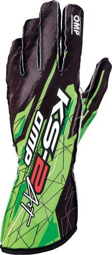 OMP Racing Rękawice kartingowe OMP KS-2 ART zielone XL