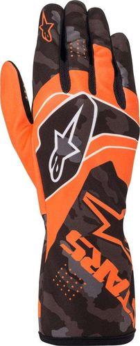 Alpinestars Rękawice kartingowe dziecięce Alpinestars TECH-1 K RACE S V2 CAMO pomarańczowe XXXS