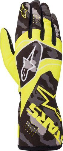 Alpinestars Rękawice kartingowe dziecięce Alpinestars TECH-1 K RACE S V2 CAMO żółte XS