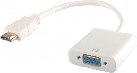 Adapter AV Savio HDMI na VGA Biały (cl-27)