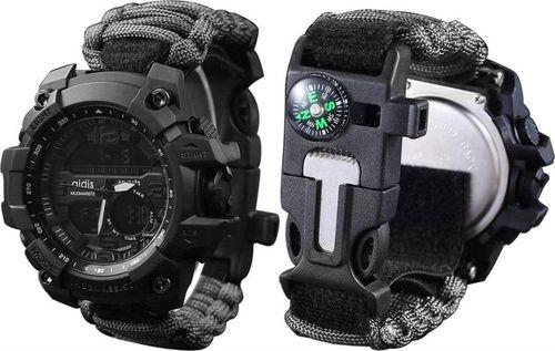 Zegarek Naviforce militarny z bransoletką PARACORD (1003czarny)