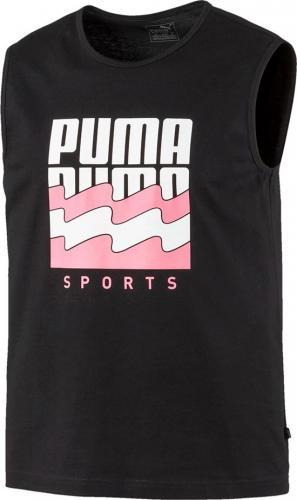Puma Koszulka męska Summer Graphic Sleeveless Tee czarny S