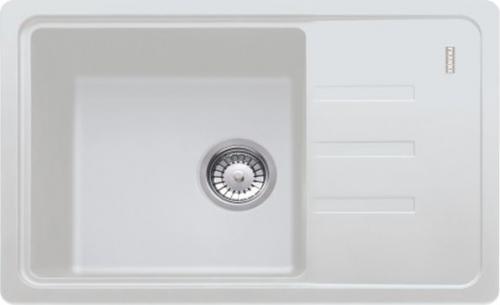 Franke Zlewozmywak 1-komorowy BSG 611 z ociekaczem 62 x 43,5cm biały (114.0367.750)