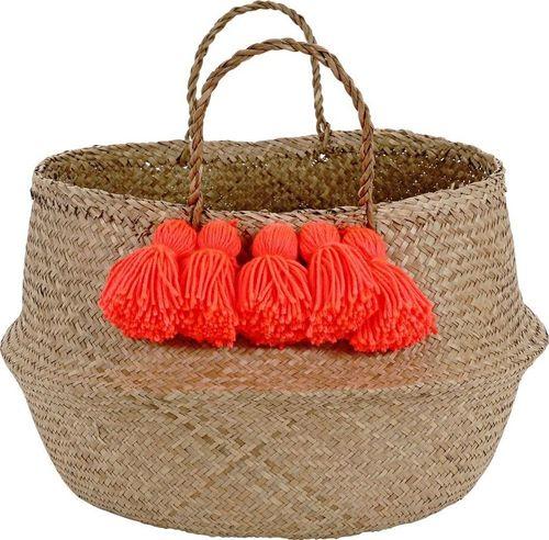 Meri Meri Meri Meri – Neon Coral Tassel Basket