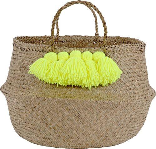 Meri Meri Meri Meri – Neon Yellow Tassel Basket