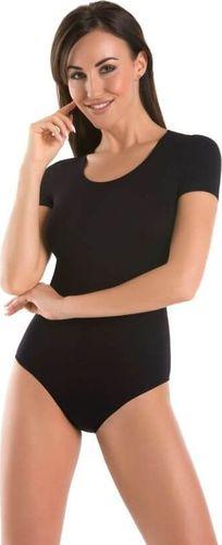 Teyli Body damskie klasyczne okrągły dekolt Shirty Czarny XS