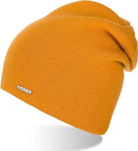 Brdrene Stylowa zimowa czapka damska miodowa CZ20 BRDRENE uniwersalny