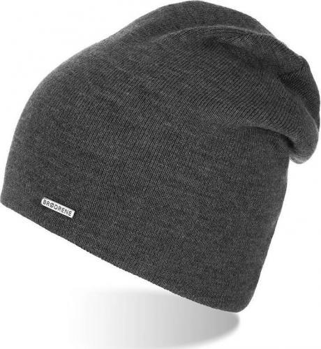 Brdrene Damska smerfetka czapka jesienna szara CZ20 BRDRENE uniwersalny