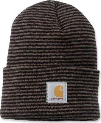 Carhartt Czapka Carhartt Acrylic Watch Hat tarmac/black stripe