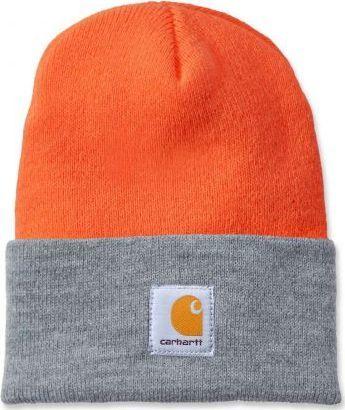 Carhartt Czapka Carhartt Acrylic Watch Hat bright orange - h.grey