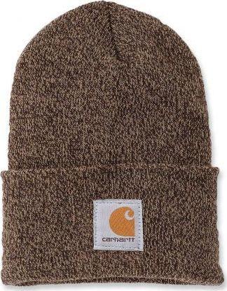 Carhartt Czapka Carhartt Acrylic Watch Hat dark brown - sandstone