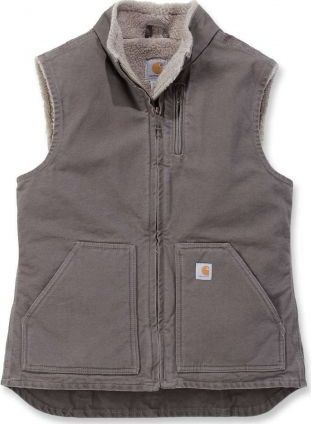 Carhartt Kamizelka Carhartt Sandstone Mock Neck Vest TAUPE GREY