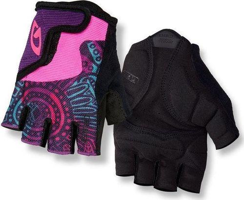 GIRO Rękawiczki juniorskie GIRO BRAVO JR krótki palec blossom roz. L (obwód dłoni od 162 mm / dł. dłoni od 165 mm) (NEW) uniwersalny
