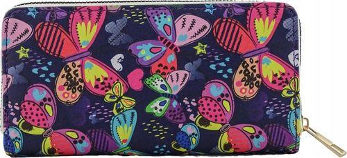 Damski Portfel z Zamkiem Kolor Motyle na PREZENT