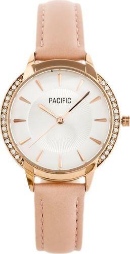 Zegarek Pacific ZEGAREK DAMSKI PACIFIC X6167 - pasek - różowy (zy661d) uniwersalny