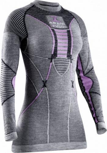 X-BIONIC Koszulka damska Apani 4.0 Merino szaro-różowa r. M (APWT06W19W)