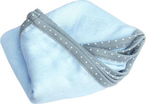 LullaLove Kocyk i Otulacz SupeRRO Newborn, niebieski, 70x70cm (LLV_P_SU_N_B)
