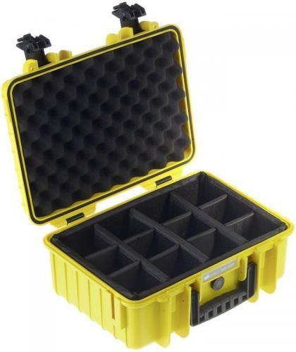 Walizka foto B+W Type 4000 z przegrodkami, żółta (4000/Y/RPD)