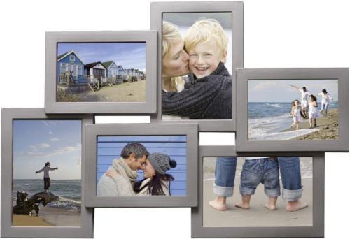 Ramka Henzo Holiday, na 6  zdjęć   3x9x13 3x10x15, srebrna    (81.211.5)