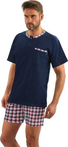 Sesto Senso Bawełniana piżama męska JASIEK z krótkim rękawem Sesto Senso XL