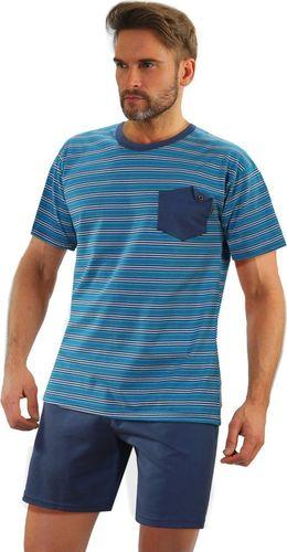 Sesto Senso Bawełniana piżama męska z kieszonką Sesto Senso 05 K67ZC M
