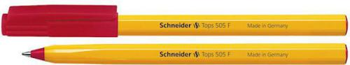 Schneider Długopis Tops 505, F, czerwony (4004675004543)