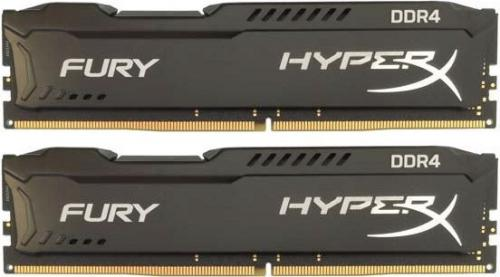 Pamięć HyperX Fury Black, DDR4, 8GB(2x4GB), 2666MHz, CL15 (HX426C15FBK2/8)