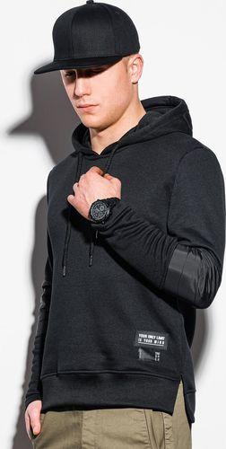 Ombre Bluza męska z kapturem B1075 - czarna L