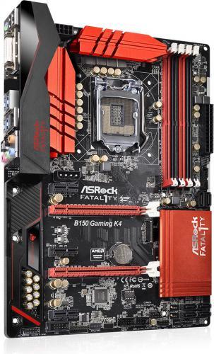 Płyta główna ASRock Fatal1ty B150 Gaming K4, B150, DualDDR4-2133, SATA3, HDMI, DVI, ATX (B150 GAMING K4)