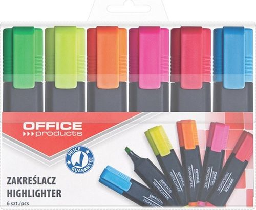 Office Products Zakreślacze 6 kolorów