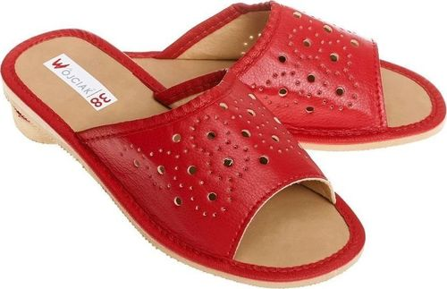 Wójciak Wsuwane, przewiewne, płaskie pantofle góralskie pw134 czerwony 36