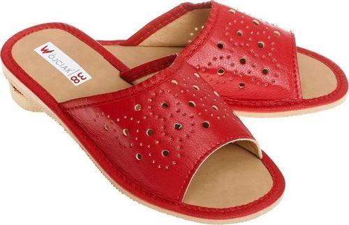 Wójciak Wsuwane, przewiewne, płaskie pantofle góralskie pw134 czerwony 38