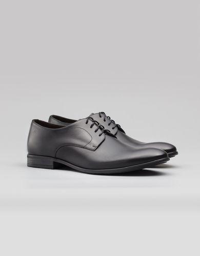 BORGIO Klasyczne czarne męskie buty derby b004 rozmiar 42