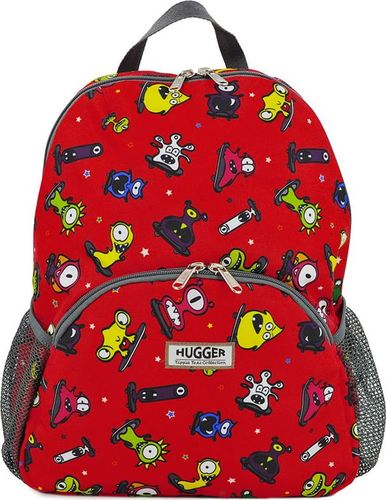 Hugger Plecaczek dla dzieci Hugger, Totty Tripper Small, wiek 1-3+ lat, wzór Monster Skaters Red 2