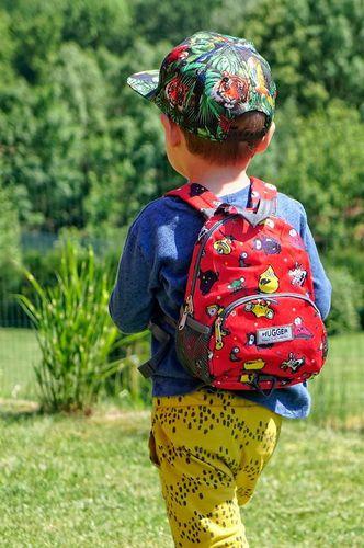 Hugger Plecaczek dla dzieci Hugger, Totty Tripper Small, wiek 1-3 lat, wzór Monster Skaters Red
