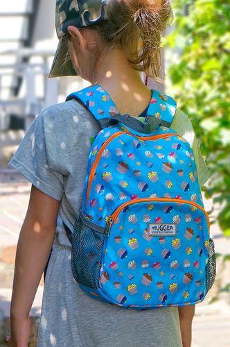 Hugger Plecak dla dzieci Hugger, Totty Tripper Medium, wiek 4-8 lat, wzór Cupcakes