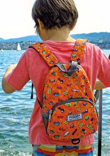 Hugger Plecak dla dzieci Hugger, Totty Tripper Medium, wiek 4-8 lat, wzór Toy Traffic